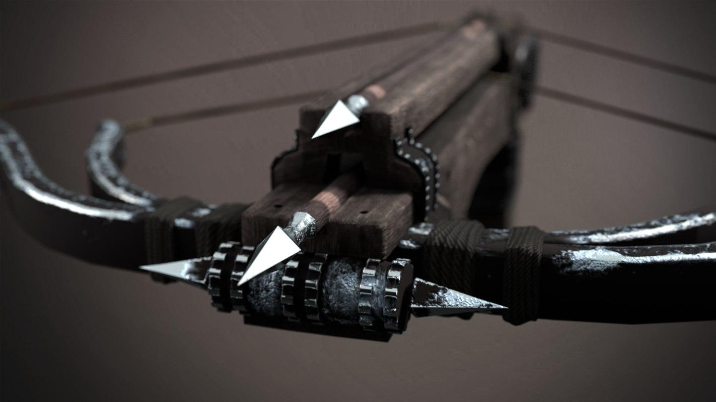 3D crossbow arrows model