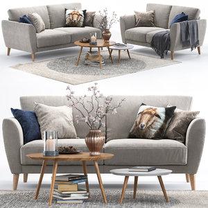 3D model pohjanmaan aria sofas