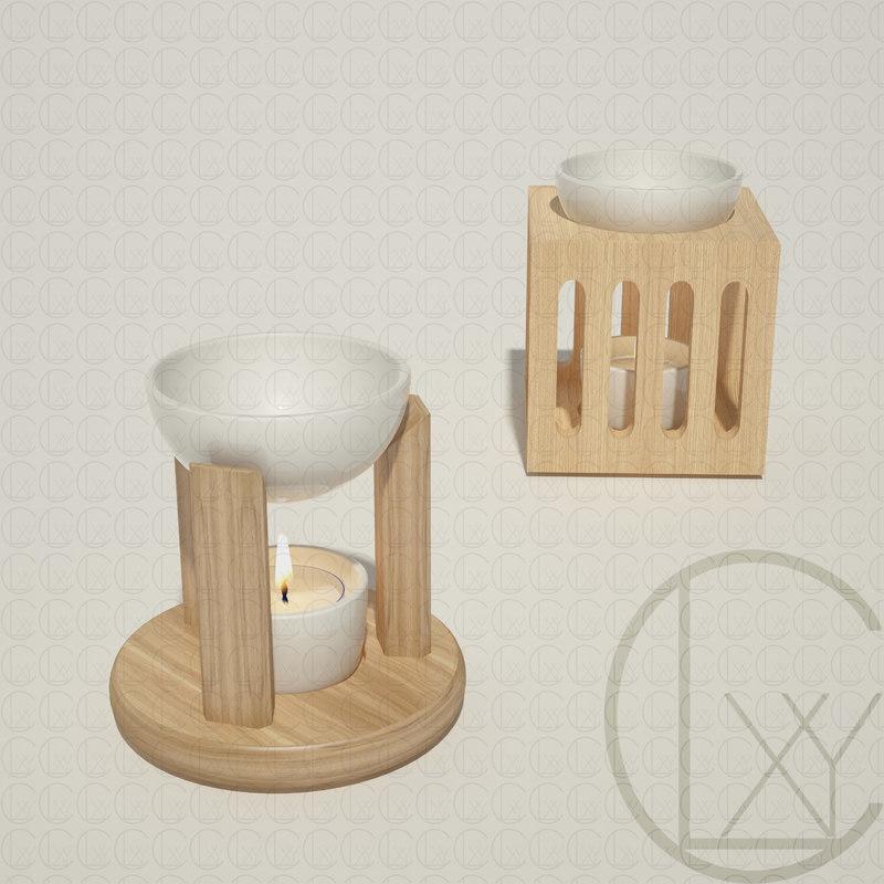 oil burners sensoli 3D