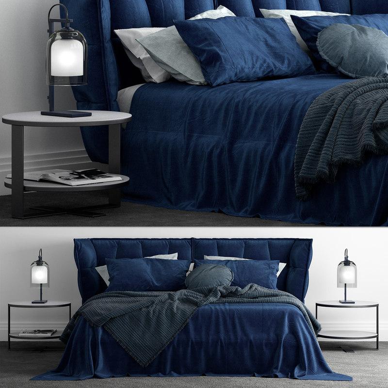 3D b italia husk bed model