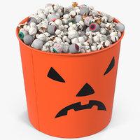 halloween popcorn cup 2 3D model