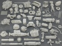 Kit bash(54 pieces) - collection-17