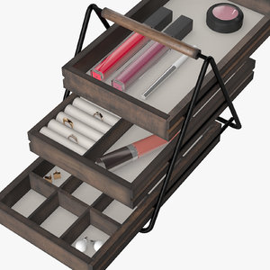 3D terrace jewelry organizer black