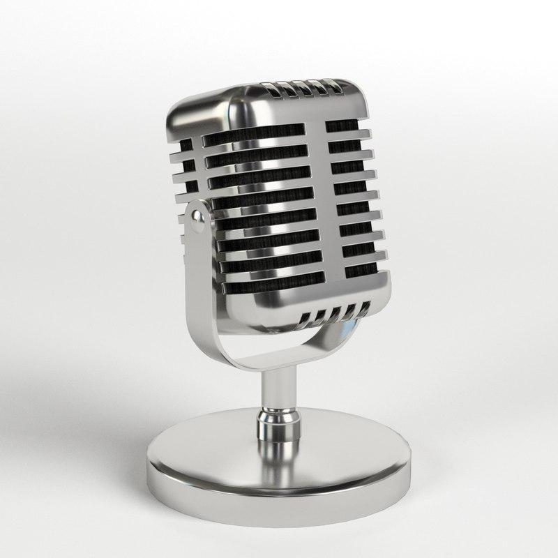 radio microphone 3D model