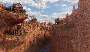 3D landscape western fantasy