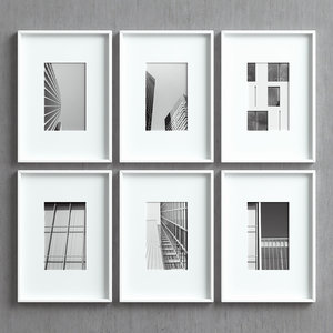 3D model picture frames set -35