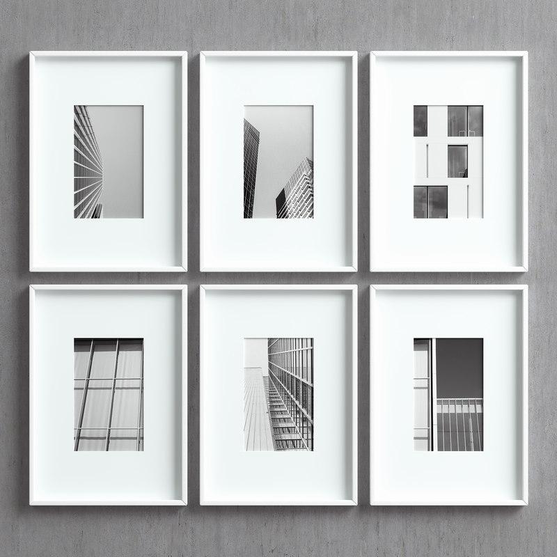 3D model picture frames set -35
