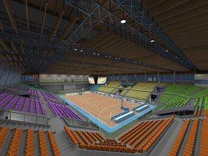 basketball stadium 01 model