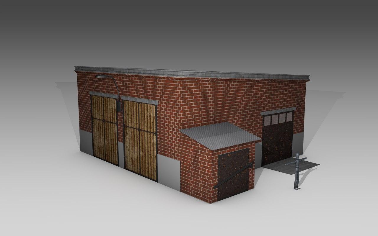 garage soviet 3D model