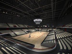 3D basketball stadium 02 model