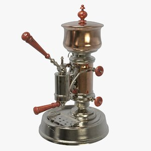 3D model vintage coffee machine