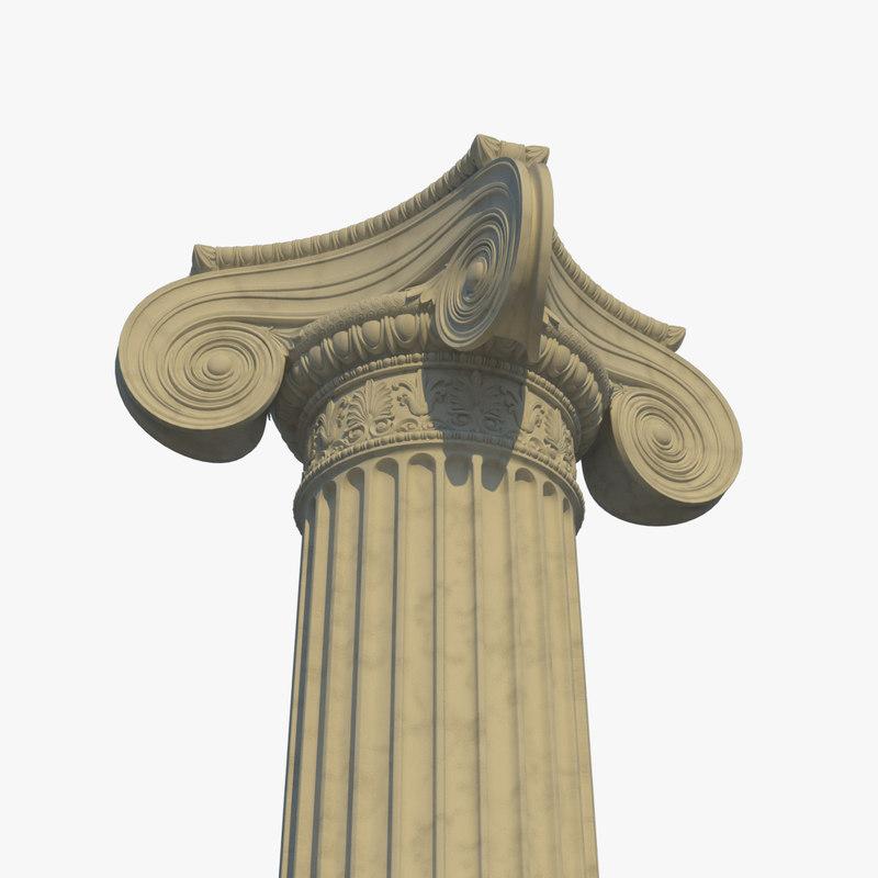 3D ionic column corner