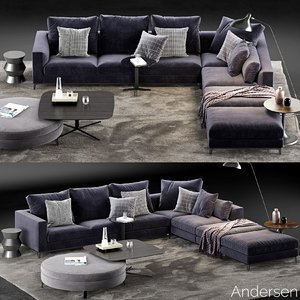 minotti andersen sofa 5 3D model
