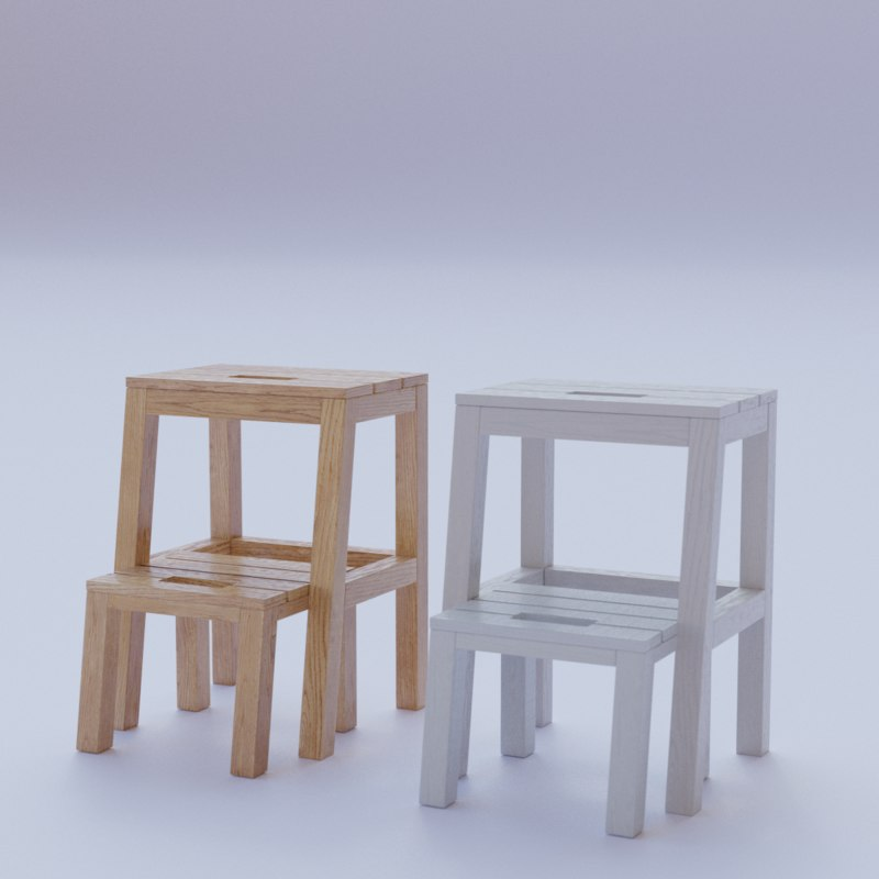 childrens stool modelled 3D model