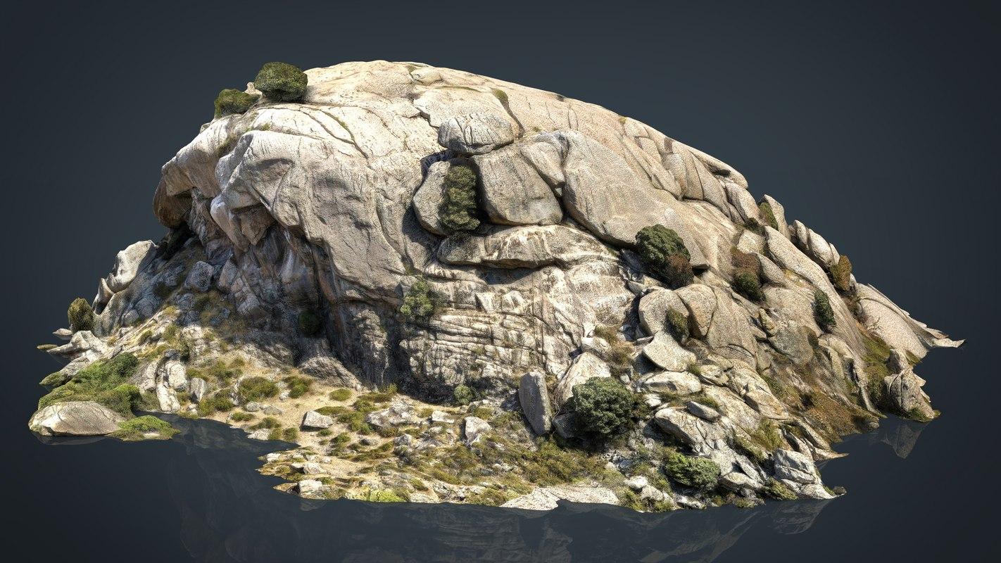 3D mountain rocks 6