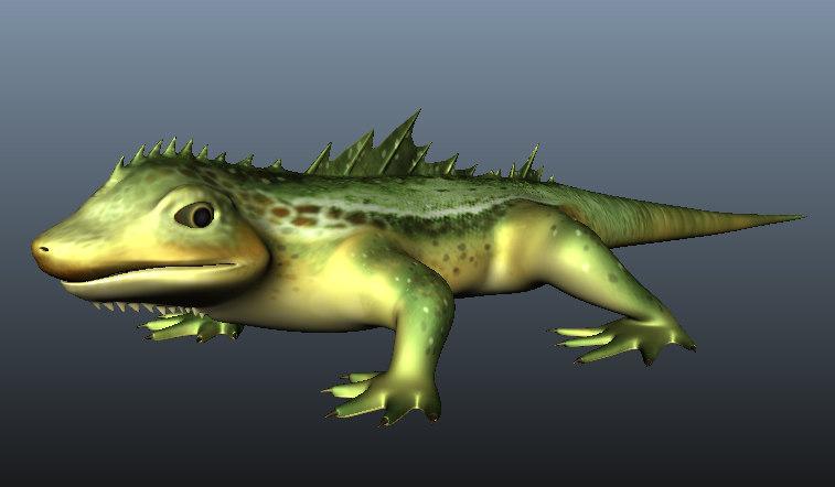 3D lizard rigg targa model