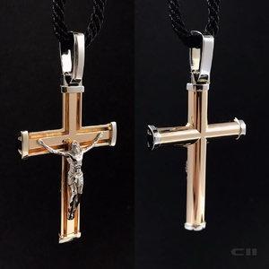 jewelry christian gold cross 3D model
