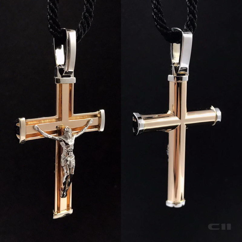 jewelry christian gold cross 3D model