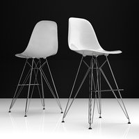 3D eames dsr bar plastic chairs