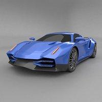 sportscar concept blender3d 3D model
