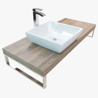 bathroom plate washbasin 3D model