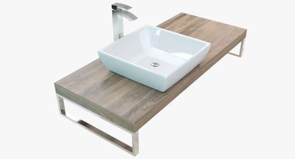 bathroom plate washbasin 3D model