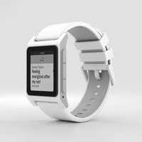 pebble 2 white 3D model