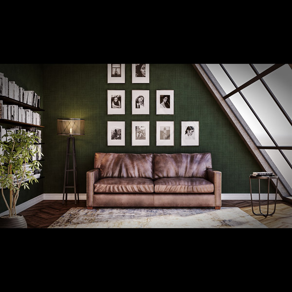 penthouse scene living room 3D model