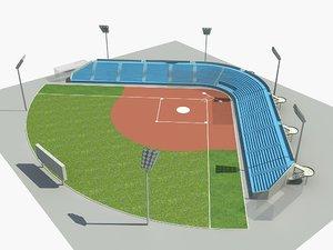 3D baseball field
