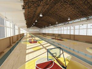 basketball training hall 3D model