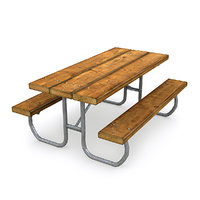 picnic table 3D