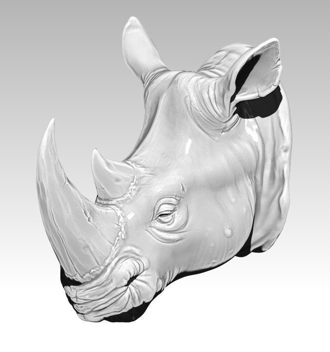 image regarding Rhino Printable known as Acceptable Rhino mind 3d printable