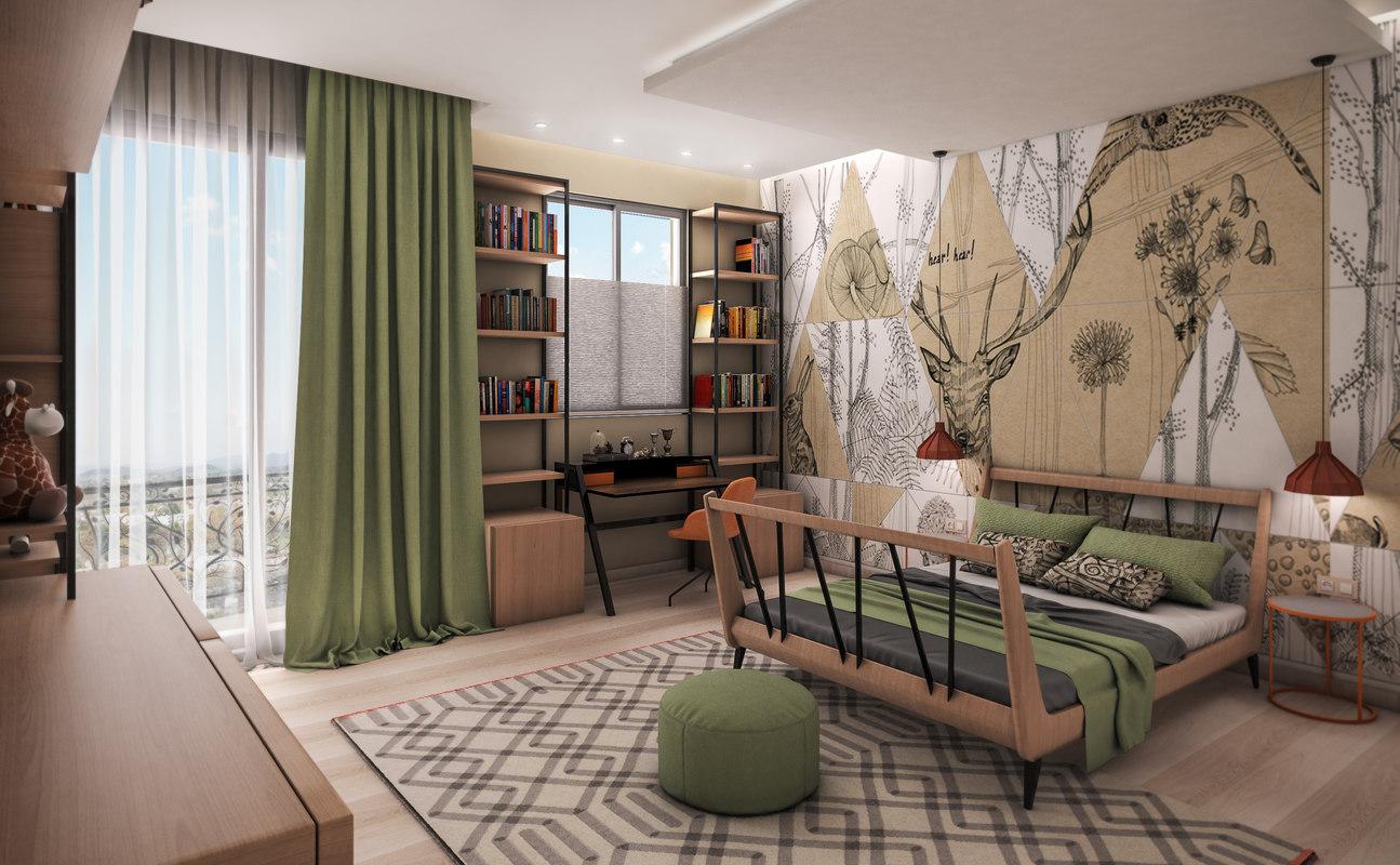safari bedroom model