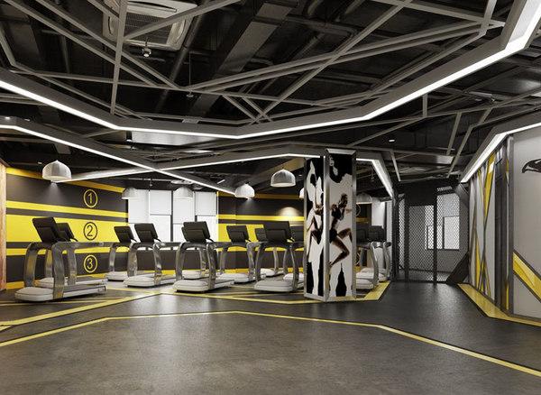 fitness gym room 3D