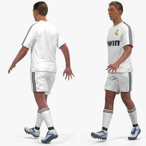 soccer football player real 3D model