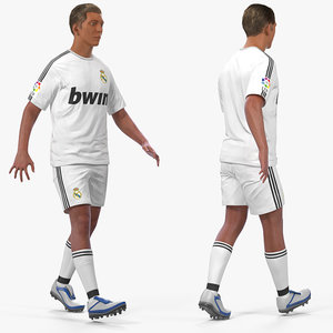 3D soccer football player real