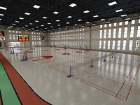 3D basketball hall model