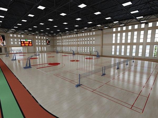 3D basketball hall model