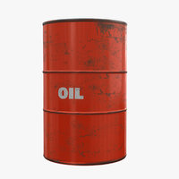3D orange oil drum