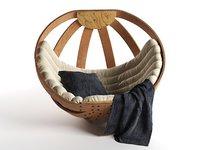 3D model cradle rocking chair
