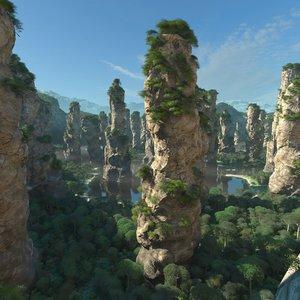 mountain scene model