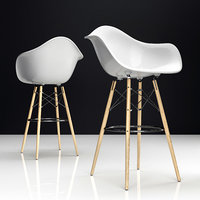 3D eames daw bar plastic chairs