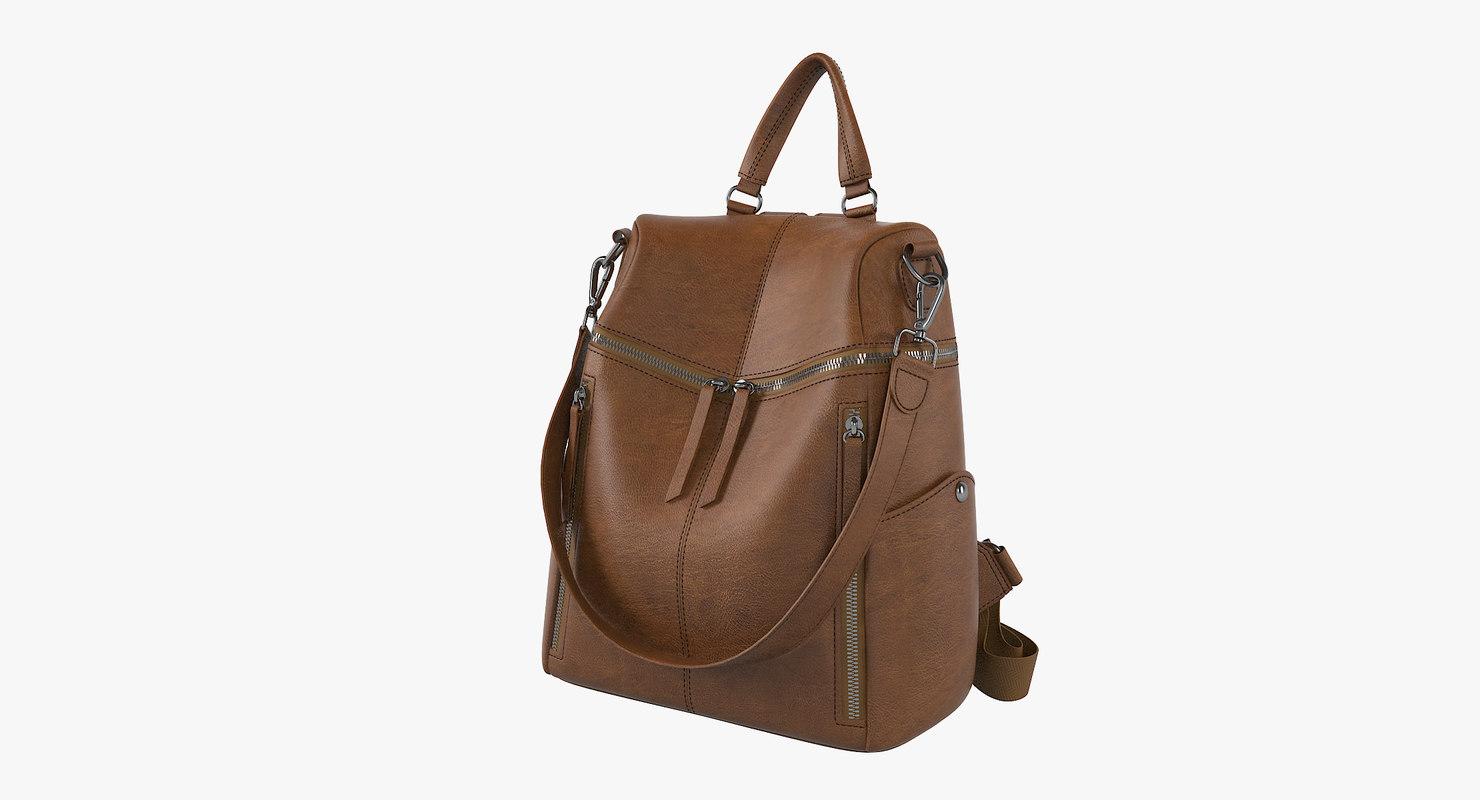3D uto women backpack shoulder model