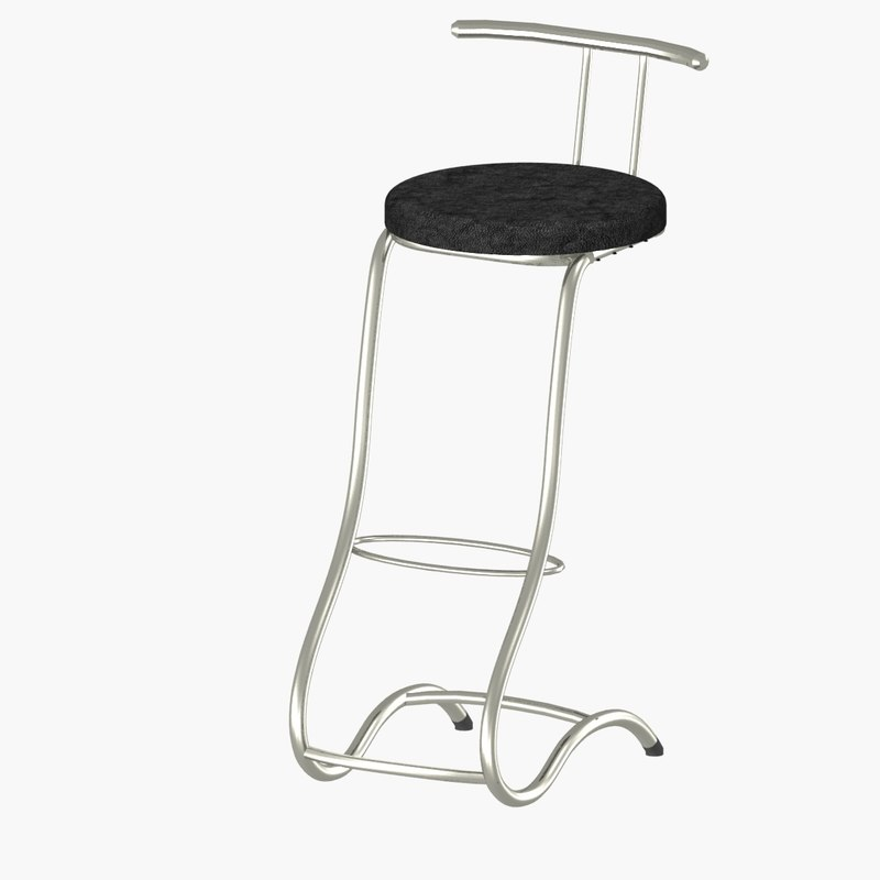 modern bar stools 3D model