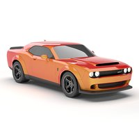 3D dodge challenger demon srt