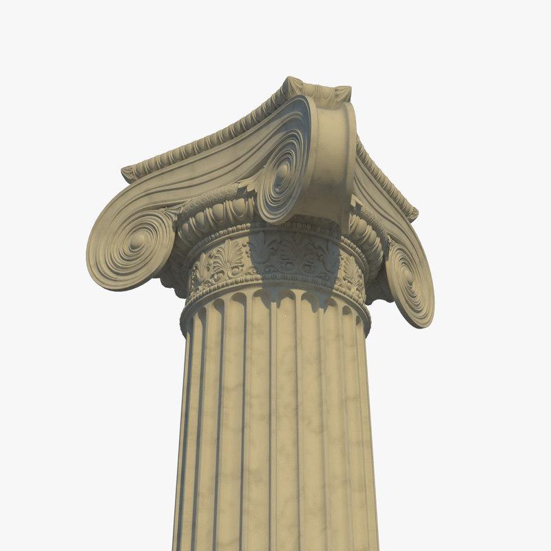 ionic column corner 3D model