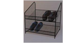 metal shoe rack 3D