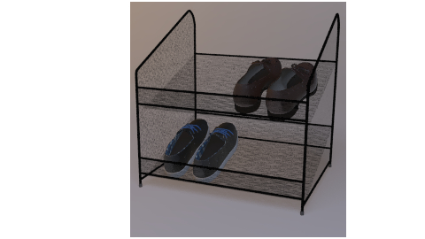 metal shoe rack 3D