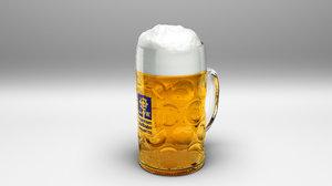 oktoberfest augustiner beer 3D model
