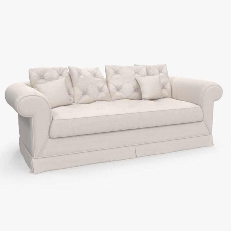 3D sofa soft provence